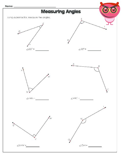 using a protractor worksheet geometry free math worksheets worksheets protractor. Black Bedroom Furniture Sets. Home Design Ideas