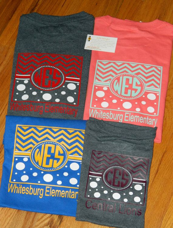 Chevron Polka Dot School Spirit T-Shirts  Show your school