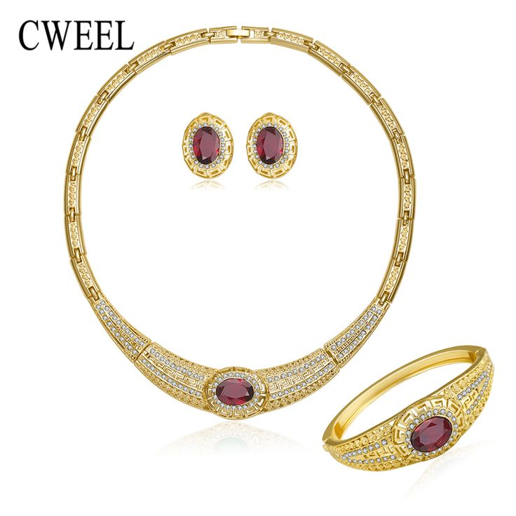 CWEEL luxury Jewelry Sets For Women Necklace Earrings Bracelet Ring Gold Plated Wedding Imitated Crystal Engagement Accessories     Tag a friend who would love this!     FREE Shipping Worldwide     Get it here ---> http://jewelry-steals.com/products/cweel-luxury-jewelry-sets-for-women-necklace-earrings-bracelet-ring-gold-plated-wedding-imitated-crystal-engagement-accessories/    #hoop_earrings