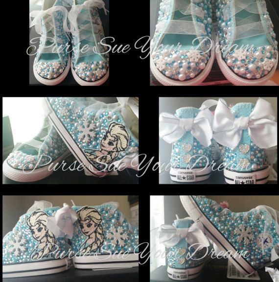 Disney Frozen Themed Custom Converse Shoes  Frozen Birthday