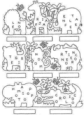 Atividades com: FIGURA FUNDO, COMPLETAR A FIGURA e COMPLETAR A SEQUÊNCIA.educação infantil,anos iniciais,coordenação motora fina,jacaré,hipopótamo,leão,girafa