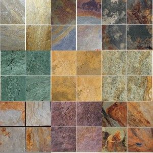 slate tile in a variety of colors