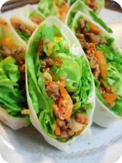 繊維質たっぷり!レタスと肉キムチの生春巻き - 水谷家の幸宴(さちうたげ)