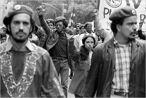 Members of the Young Lords marched in the Puerto Rican Parade in June 1970. — with Spanish Barbie Dawn.
