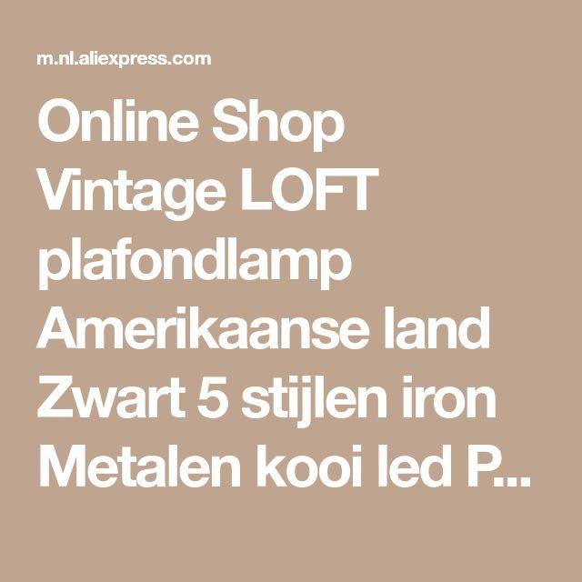 Online Shop Vintage LOFT plafondlamp Amerikaanse land Zwart 5 stijlen iron Metalen kooi led Plafondlamp Lamp restaurant eetkamer armatuur | Aliexpress Mobile