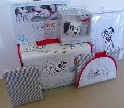 Disney 101 Dalmatians 10pc Crib Bedding Set New | eBay