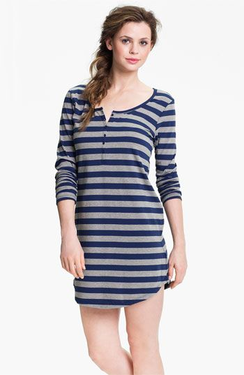 Nordstrom Long Sleeve Henley Sleep Shirt | Nordstrom