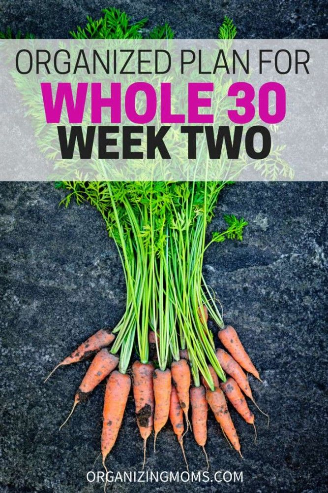 An organized Whole 30 Meal Plan for Week 2. Meal ideas, and links to great recipe resources. Be organized with the Whole 30 to make it easier on you.