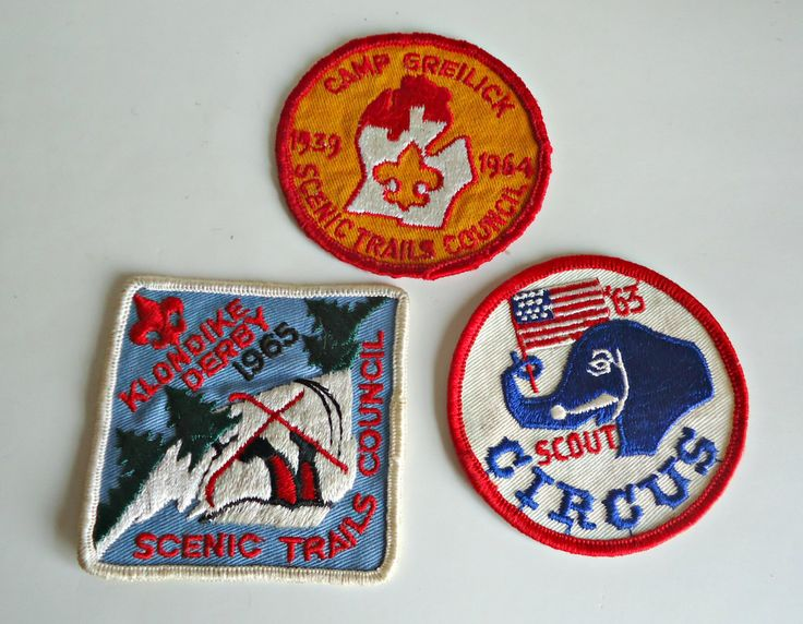 3 Vintage 1960's Boy Scouts Patch Scout Circus - Camp Greilick - Klondike Derby  Embroidered Badge by treasurecoveally on Etsy