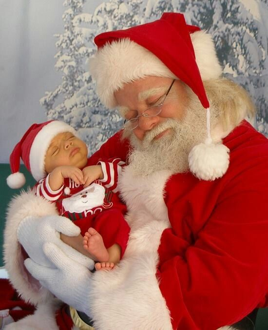 precious christmas baby photo - Pictures With Santa Claus