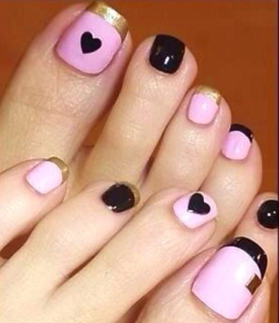 Uñas de pies decoradas, nails