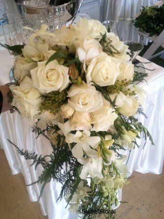 wedding bouquets cascade style australia - Google Search