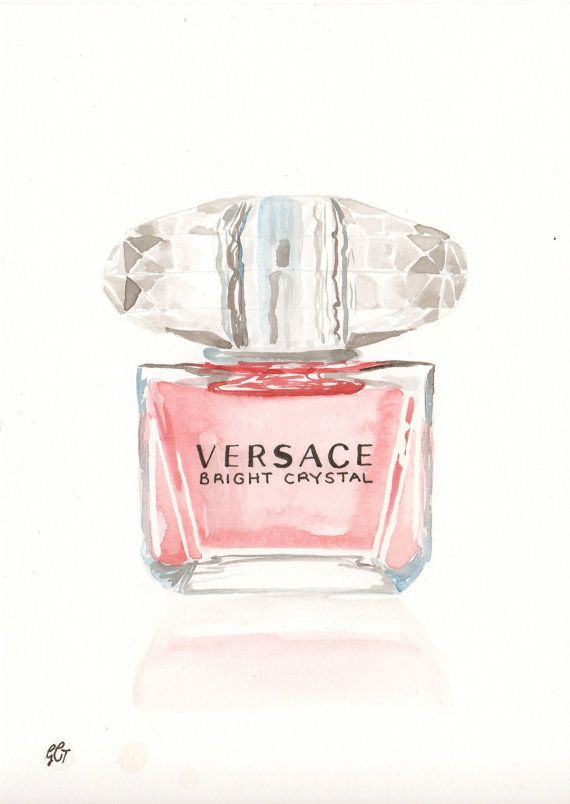 Versace Bright Crystal Fragrance  Watercolor perfume by MilkFoam, $35.00