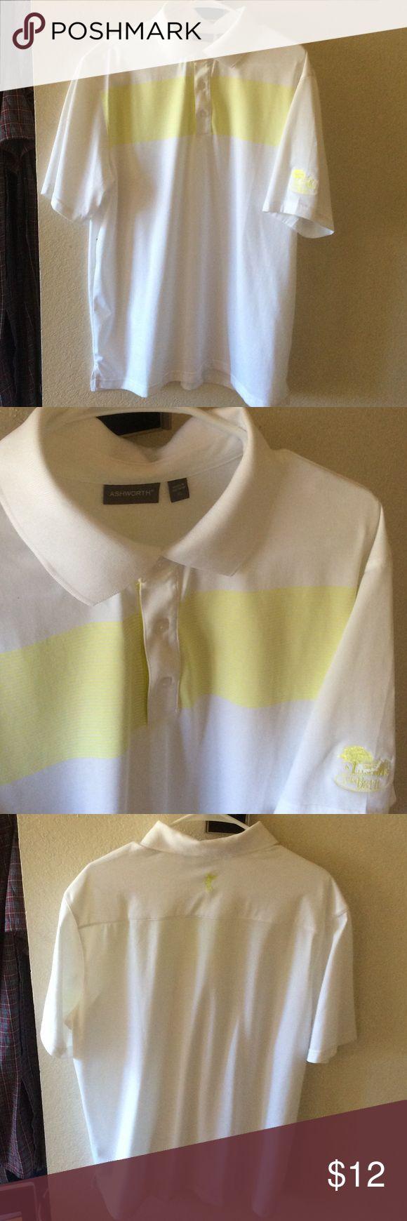 Men's Ashworth Golf Shirt sz XL.  NEW Never worn. Embroidery on sleeve Ashworth Shirts Polos