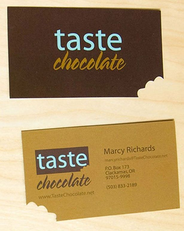 Chocolate: 100 (Really) Creative Business Cards | Webdesigner Depot