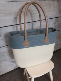 O`Bag trim faded linnen air blue