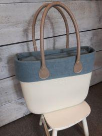 O`Bag trim faded linnen air blue