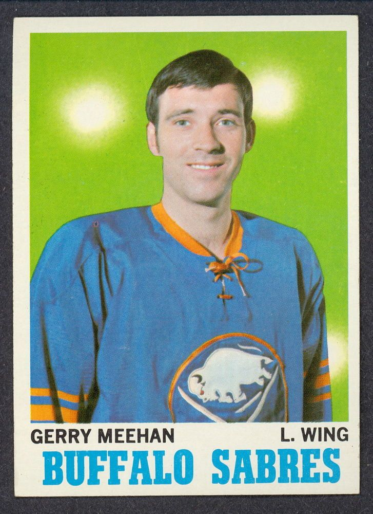 1970 71 TOPPS HOCKEY 125 GERRY MEEHAN NM BUFFALO SABRES CARD FREE SHIP TO USA #BuffaloSabres