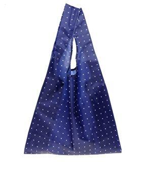 BagguBaggu Shopper, Shopper Bags, Sewing, Polka Dots, Navy Dots, Shops Bags, Dots Pattern, Dots Shopper