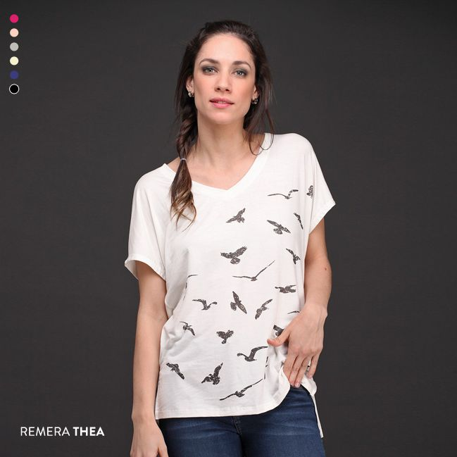 La Remera Thea es un básico con un toque especial. #Básicos #NuevaColección #Estampados