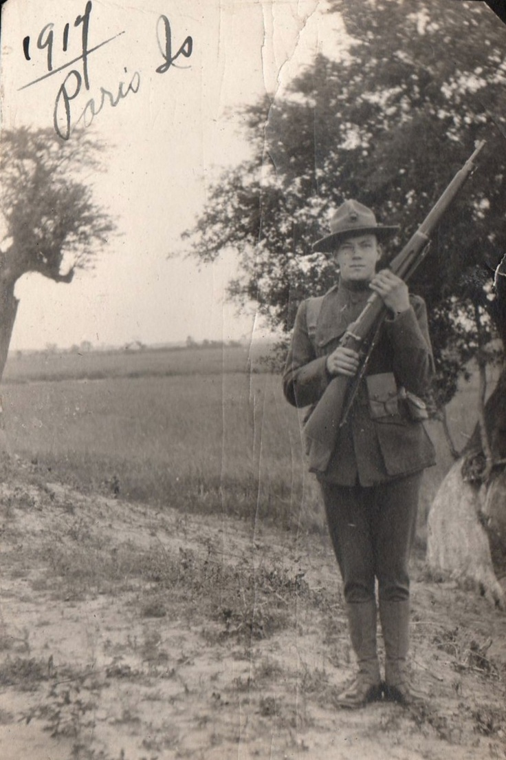 WW1 marine soldier Parris Island My Grandfather was there in 1917, Clarence Edward Donze