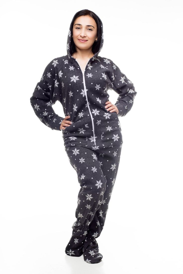 Snowflakes Kajamaz: Footed Pajamas For Adults via Kajamaz: Footed Pajamas and Jumpsuits For Adults. Click on the image to see more!