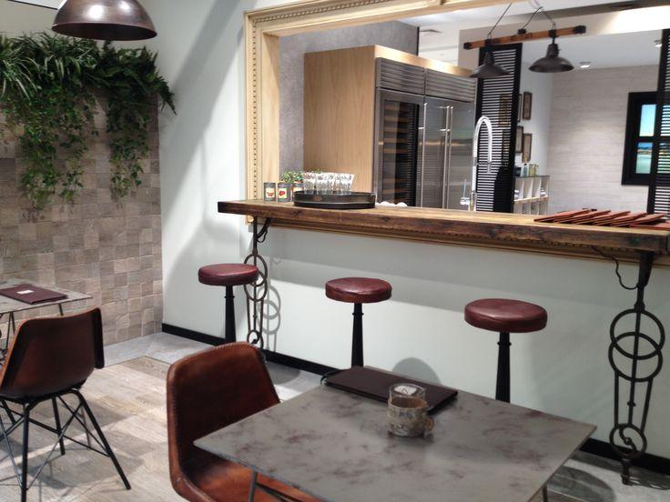 A terasz közvetlen kapcsolatban a konyhával