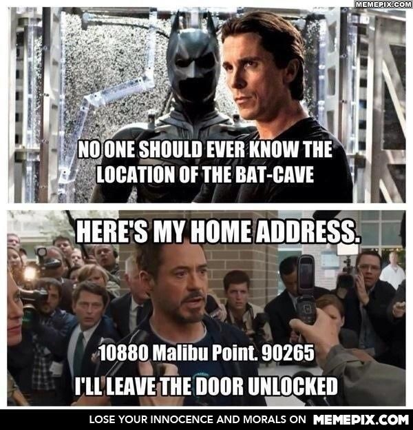 Why Tony Stark is better... (Sorry Bruce, you are my favorite DC hero, but anything Marvel is better)