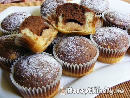Pudinggal töltött fekete-fehér muffin 2