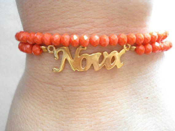 Gold Godmother's bracelet Νονά Godmother's gift by Poppyg on Etsy