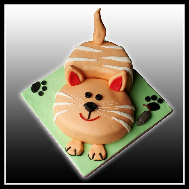 Cat Cake @Jennifer Milsaps L DiGiacomo   I am gonna need this to be my birthday cake this year!!