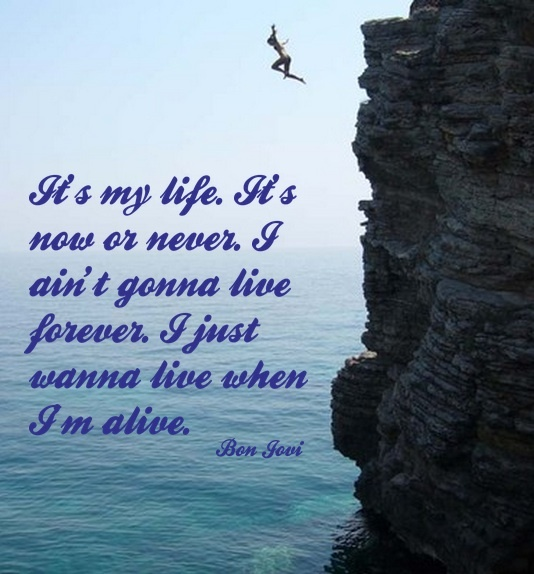 Just Live Your Life Quotes: It's My Life, It's Now Or Never. I Ain't Gonna Live