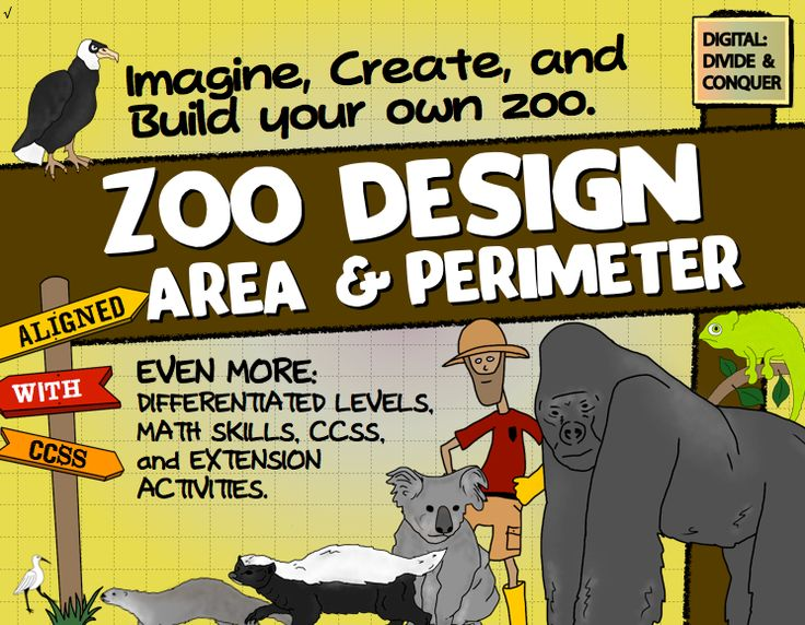 Zoo Design: Area, Perimeter, Map Skills, Project Based Learning, & More! Let your student's imagination and possibilities run wild as they design a zoo! $