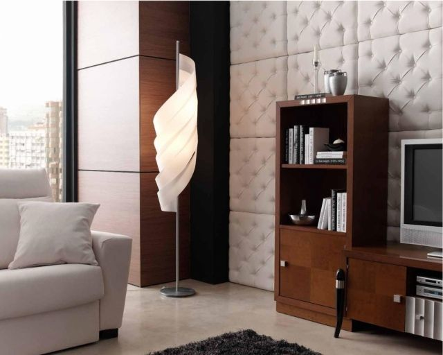 Wandplatten Weiß Gesteppt Modernes Wohnzimmer Holz Tv Wand