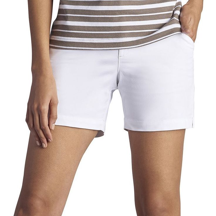 Women's Lee Essential Twill Shorts, Size: 8 - regular, White