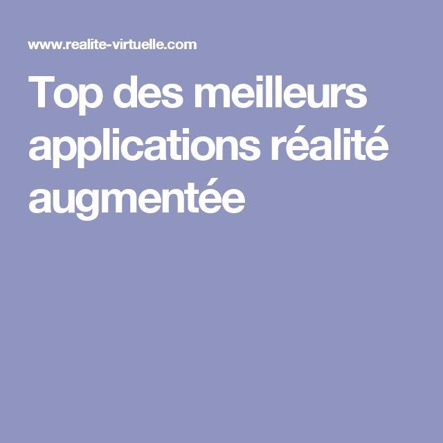 Top des meilleurs applications réalité augmentée