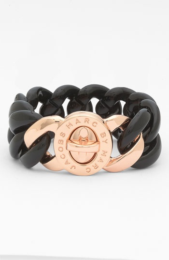 I need this in my life!!!   MARC BY MARC JACOBS 'Turnlock - Candy' Small Bracelet | Nordstrom