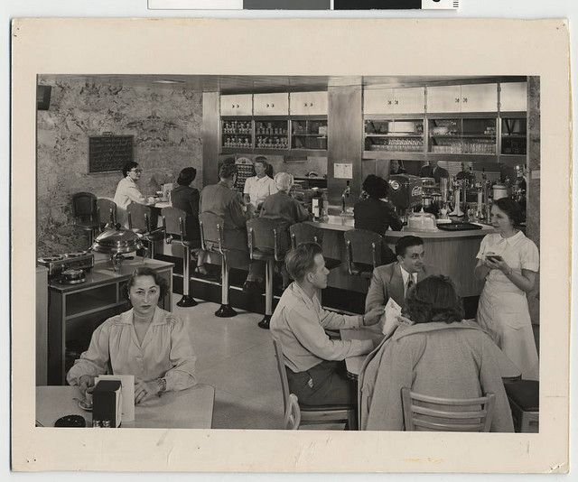 The coffee shop at Mt. Sinai hospital in Minneapolis, MN, c. 1955