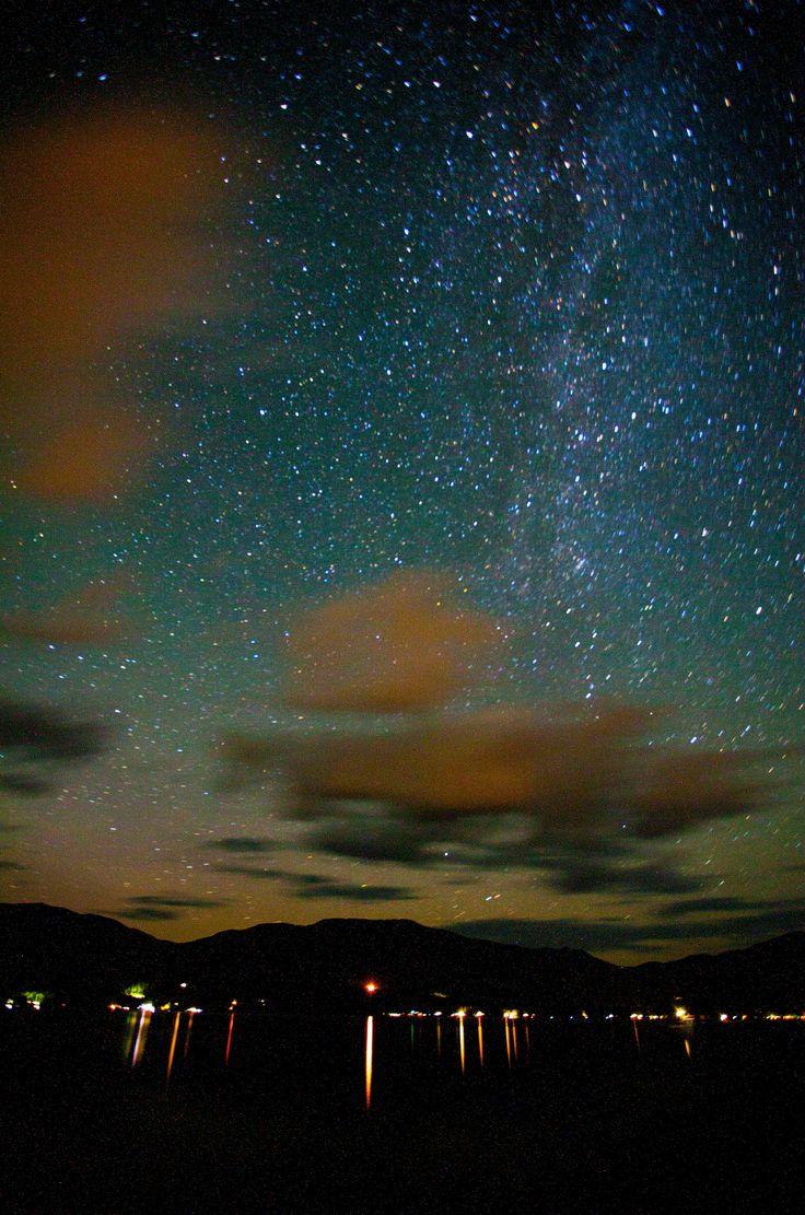 https://flic.kr/p/LvprS1 | Stars & Clouds | Night time stars at Lake Shuswap.