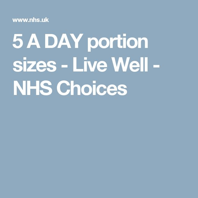5 A DAY portion sizes - Live Well - NHS Choices