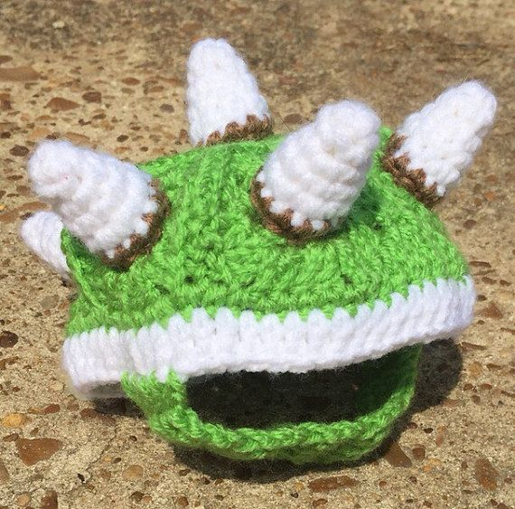 Bowser Box Turtle Sweater Cozy Green or Black Crochet Pet Lover Gift Smash Bros Mario Costume