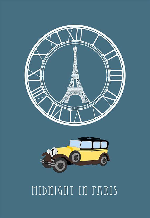 midnight in paris movie poster postcard 4'X6' by LiveitupS2, $1.50