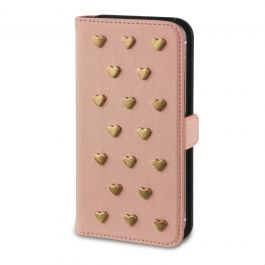 Fab Studs book case iPhone 5(S) roze | sbsupply.nl