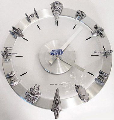 Star wars::: awesome clock would be great in his room or game room :)