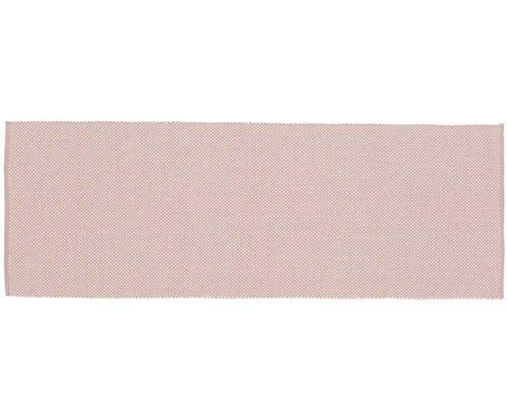 Gehen Sie mit handgewebter Teppichläufer Dots in Rosa, Weiß wie auf Wolken. Entdecken Sie weitere tolle Teppiche von LIV INTERIOR auf >> WestwingNow.