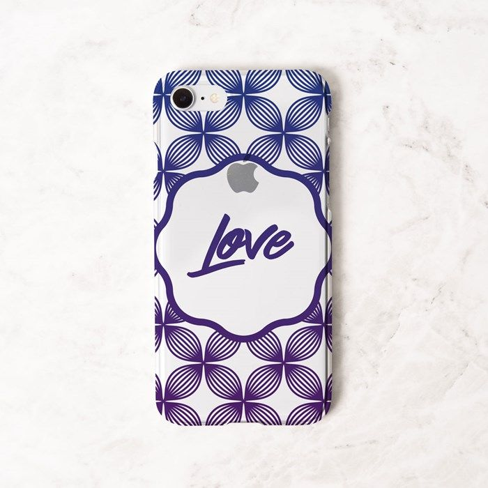 Personalised iPhone Clear Cover - Floral Pattern | GettingPersonal.co.uk