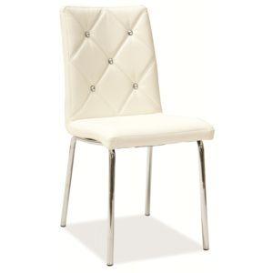 LIFE nábytek Jídelní čalouněná židle MEG 50 bílá