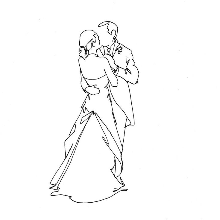 Personalised Wedding Drawing By Love Lines Notonthehighstreet