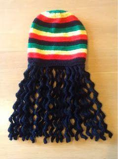 Sooz In The Shed...: Dreadlock Rasta hat - the free crochet pattern,