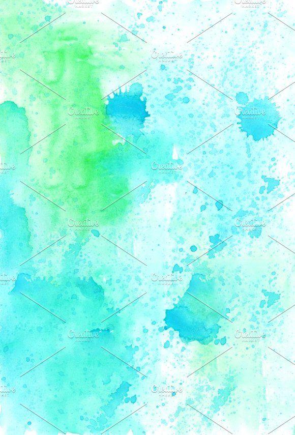 8 watercolor backgrounds by LuizaVictorya on @creativemarket